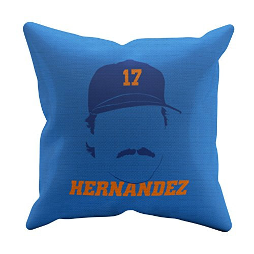 - 500 LEVEL Keith Hernandez New York Baseball Throw Pillow - 16