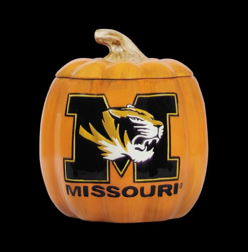 Collegiate Ceramic Pumpkin Cookie Jar University of Missouri Mizzou Tigers