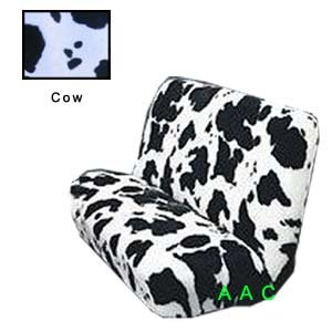 Universal-fit Animal Print Bench Seat Cover - Cow (Cow Seat Covers)