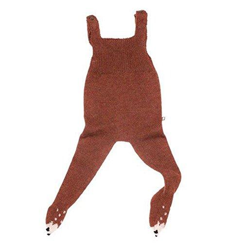 06b609e86 zooarts 2017 Fashion de punto body bebé niñas Footies Cabestro Halter Pelele  trajes mono harén pantalones