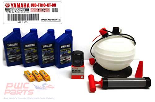 YAMAHA 2016+ VX/Deluxe/Cruiser/Sport TR-1 Oil Change Kit w/NGK Spark Plugs & 6L Oil Fluid Extractor Pump