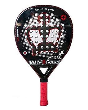 Black Crown Caiman - Pala de Padel, Adultos Unisex, Negro/Rojo, L: Amazon.es: Deportes y aire libre