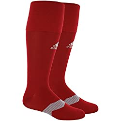 adidas Metro IV Soccer Socks, Power Red/White/Clear Grey, Large