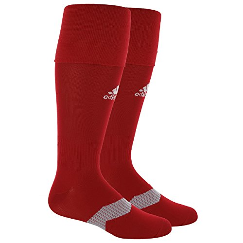 adidas Metro IV Soccer Socks, Power Red/White/Clear Grey, (Adidas Mens Authentic Football Jersey)