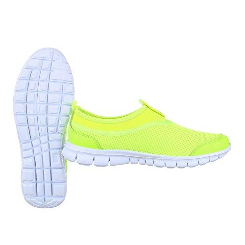 Ital-Design - Zapatillas de Material Sintético para mujer verde neón
