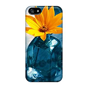 Premium Bottle Yellow Flower Hd Back Covers Snap On Cases For Iphone 5/5s