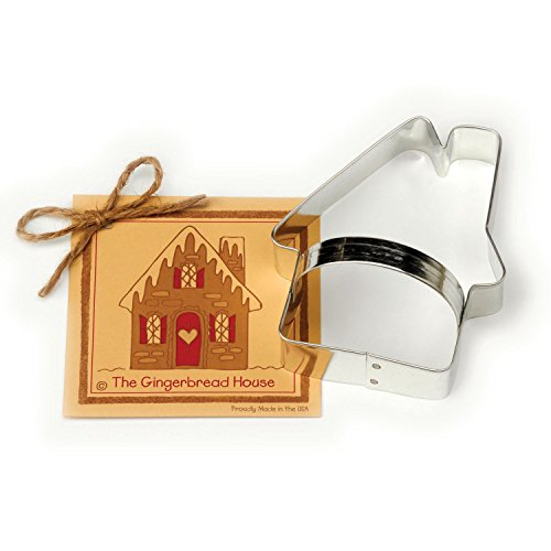 Gingerbread House Cookie and Fondant Cutter - Ann Clark - 4.5 Inches - US Tin Plated Steel - Memory Company Cutting Board