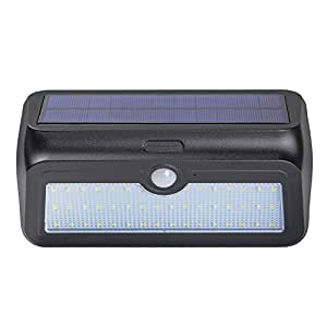 Zoeson 46 LED Solar Light Motion Sensor Night Light with Auto On & Off + Waterproof IP64 + 950 Lumen(black)