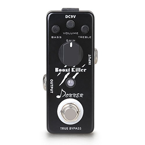 Donner True Bypass Boost Killer Guitar Effect Pedal Rich Distortion - Boost Treble