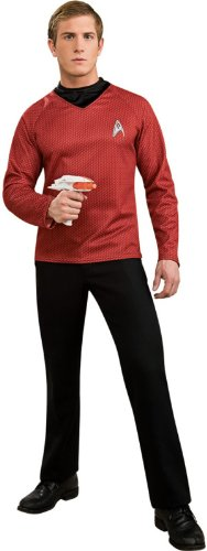 Red Star Trek Costumes (Star Trek Movie Deluxe Red Shirt, Adult XL Costume)