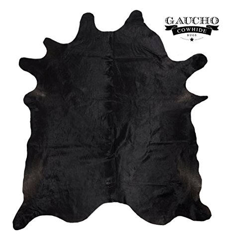 Solid Black Cowhide Rug - Natural & Gaucho Cowhides