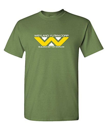 Weyland Yutani   80S Retro Horror Movie Tee Shirt T Shirt  2Xl  Army