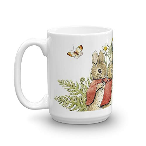 Peter Rabbit With His Family - Beatrix Potter 15 Oz White Ceramic