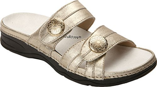 Drew Women's Ariana Slide,Dusty Gold Leather,US 10.5 N by Drew Shoe