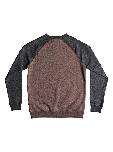 À Chocolate Sweat Sport Everyday Homme Quiksilver shirt Heather Crew Capuche Marron Brown nIxOB