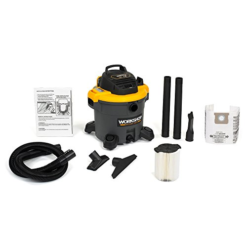 - WORKSHOP Wet/Dry Vacs WS1200VA Heavy Duty General Purpose Wet Dry Shop Vacuum with Dust Collection Bag