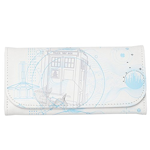 """Doctor Who Purse – Embossed Women's Wallet – TARDIS Design 6.5"""" x 3.5"""" from Doctor Who"""