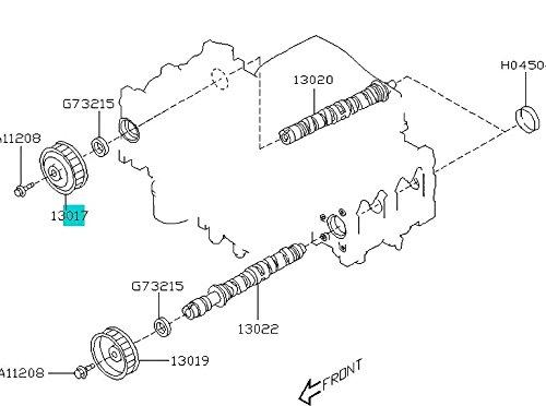 1999-2012 Subaru non Turbo RH Camshaft Sprocket Legacy Outback Forester Impreza 13017AA042