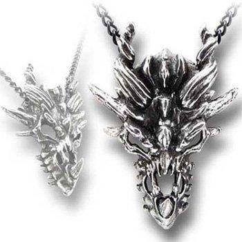 (Dragon Skull Alchemy Gothic (Metal-Wear) Pendant)
