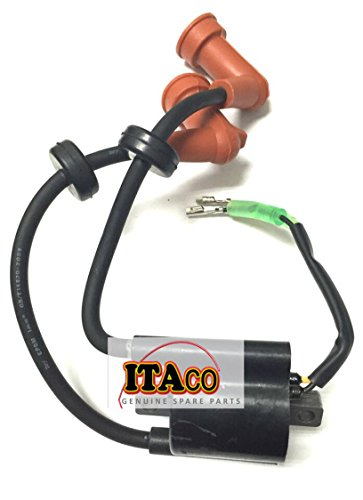 Ignition Coil w/ Plug Cover Assy 3BJ-06040-1 fit Tohatsu Nissan Outboard 9.9HP 15HP 20HP 4T (Ignition Plugs Cover)