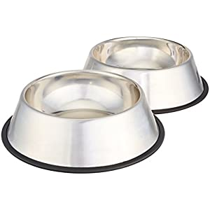 AmazonBasics Stainless Steel Dog Bowl - Set of 2
