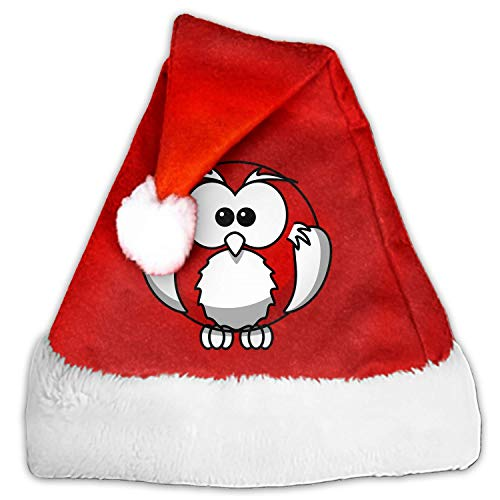 1 Pack Bird Owl Santa Hat Adult/Kid Size Winter Plush New Years Xmas Christmas Party Santa Hats Cap]()