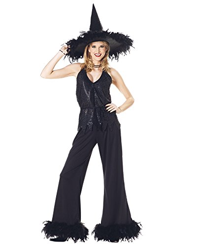 Classic Witch Glamour Adult Black Theatre Costumes Sizes: One Size