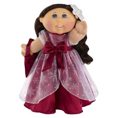 Cabbage Patch Kids Anniversary - Cabbage Patch Kids 30th Anniversary Holiday Kid Caucasian Girl with Brunette Hair and Burgundy Dress