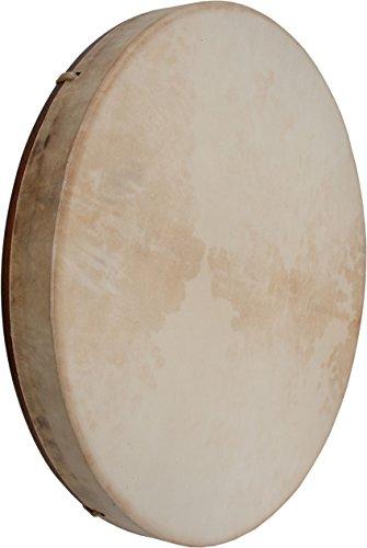 DOBANI Pretuned Goatskin Head Red Cedar Wood Frame Drum w/ Beater 18''x2'' by DOBANI
