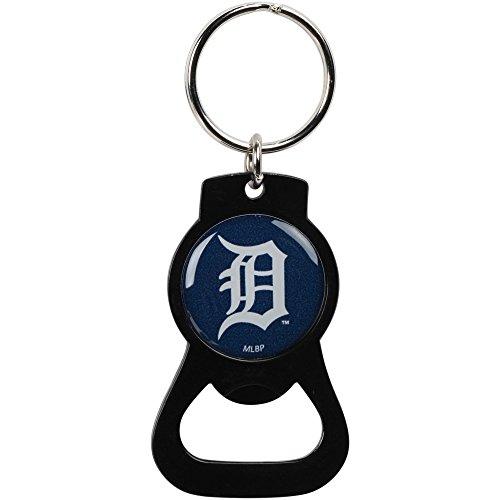 Detroit Tigers Bottle Opener Keychain Black ()