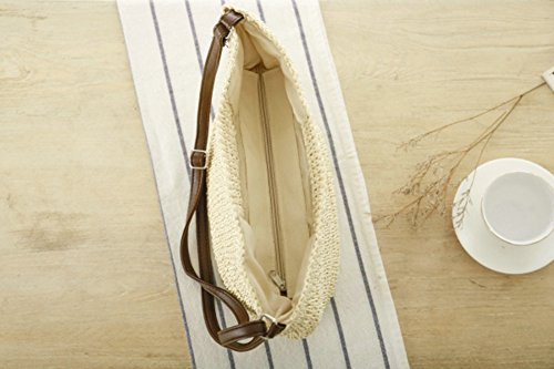 Handbag Crossbody Summer Women's Bag Tote Fashion Beige Beach Straw Bag Handmade Ouvin gqAw6zx