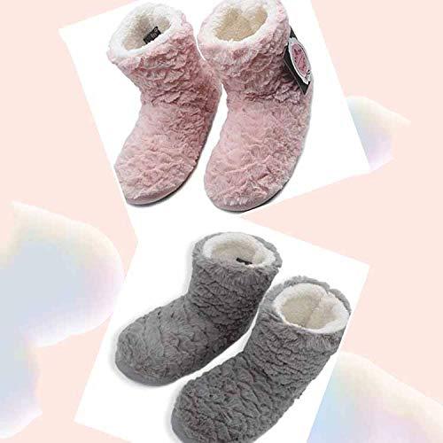 Home Interno Fondo Grey Gomma Pantofole Scarpe Antiscivolo Caldo Indoor Peluche Inverno Donna Li In Miss Da Cute ZRTwCPqnq