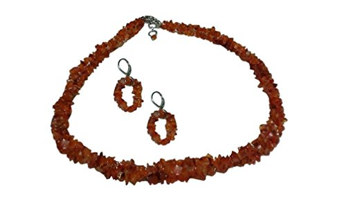 Tone Two Strand (Two Strand Orange Carnelian Necklace and Earrings, 17)