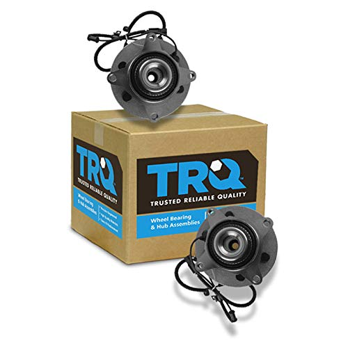 (TRQ Front Wheel Bearing & Hub Assembly Driver & Passenger Side for Ford Pickup)