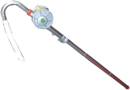 Bomba Manual para gasoil Manual de Rotary Industrial Bomba de Aceite de la Bomba de aleación de Aluminio Ideal for transferir sin corrosión a Base de petróleo (Color : Silver, Size :
