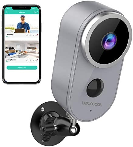 Wireless Camera for Home Security - Rechargeable Battery Powered WiFi Camera, 1080P Home Security Camera Outdoor Indoor with PIR Motion Detection, Night Vision, 2-Way Audio, Weatherproof