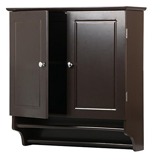 Yaheetech Bathroom/Kitchen Wall Storage Cabinet Collection Wall Cabinet 2-Door Wall Cabinet - Espresso ()