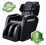 Massage Chair, KissDate Zero Gravity Electric Full Body Shiatsu Massage Chair Recliner with Heater, Footroller and Vibrating Black
