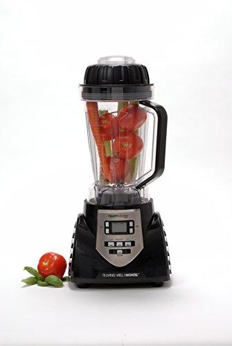 HealthMaster Elite 1200 Watt Blender with 70oz Jar and Recipe Book-- Fruit & Vegetable Emulsifier, Juicer & Food Processor