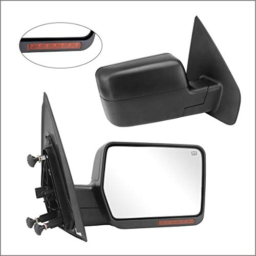 - Perfit Zone Towing Mirrors Replacement Fit for 2004-2006 FORD F150, POWER HEATED,W/AMBER SIGNAL,BLACK,RIGHT
