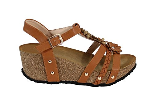 By Shoes - Zuecos para Mujer Camel
