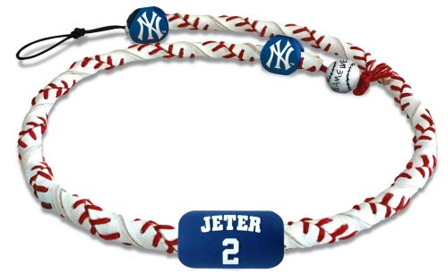 GameWear MLB New York Yankees Derek Jeter Classic Frozen Rope Baseball Necklace (Genuine Mlb Necklace)