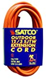 25 foot extention cords - Satco 93-5017 25' Orange Heavy Duty Outdoor Extention Cord (12-3 SJTW-3)