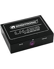 Omnitronic 10355125 Lh-125 IR-regelaar voor stereoluidsprekers, inclusief afstandsbediening