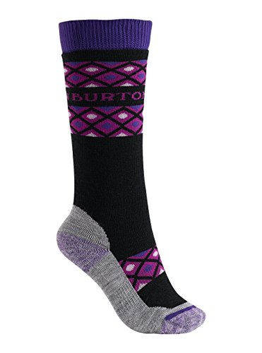 Burton Youth Girls Scout Socks, True Black, Small/Medium by Burton