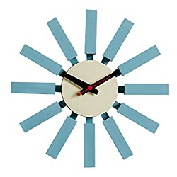 MLF Nelson Block Clock in Blue, Designed by George Nelson and Produced by MLF (Full Range Available)