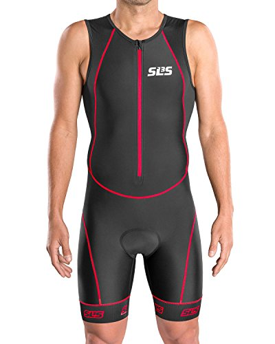 (Tri Suits for Men| Triathlon Gear FRT 2.0 Mens Triathlon Suits | Great Fit and Comfortable Tri Suite Men | German Designed (Black/Red, Medium))