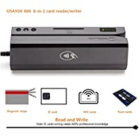 OSAYDE880 8-in-1 USB Magstripe&IC&NFC&Psam Cards Reader&Writer encoder Programmable with 20 Blank Cards, Only For ADPU Professional People Writing IC cards