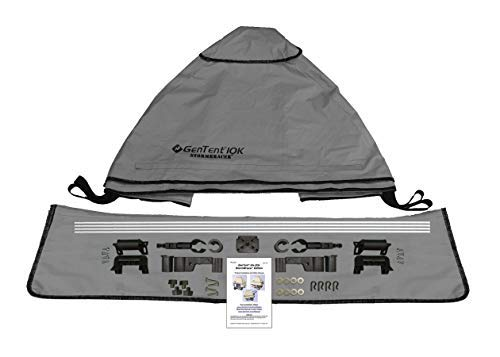 GenTent 10k Generator Tent Running Cover - Universal Kit (Standard, GreySkies) - Compatible with 3000w-10000w Portable Generators by GenTent Safety Canopies (Image #3)