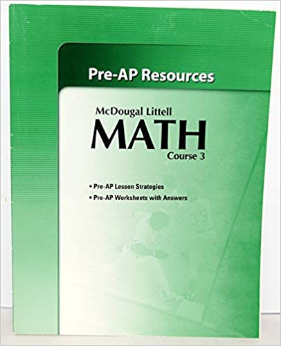 McDougal Littell Middle School Math Course 3